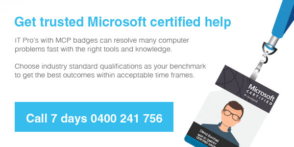 Microsoft certified technical support