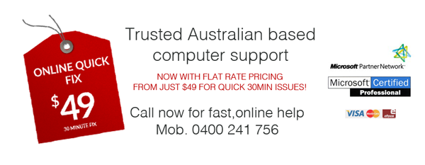 remote desktop computer support Australia