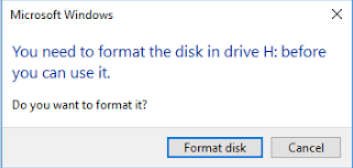 do you want to format disk?