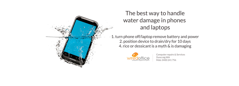 fix water damage phone or laptop